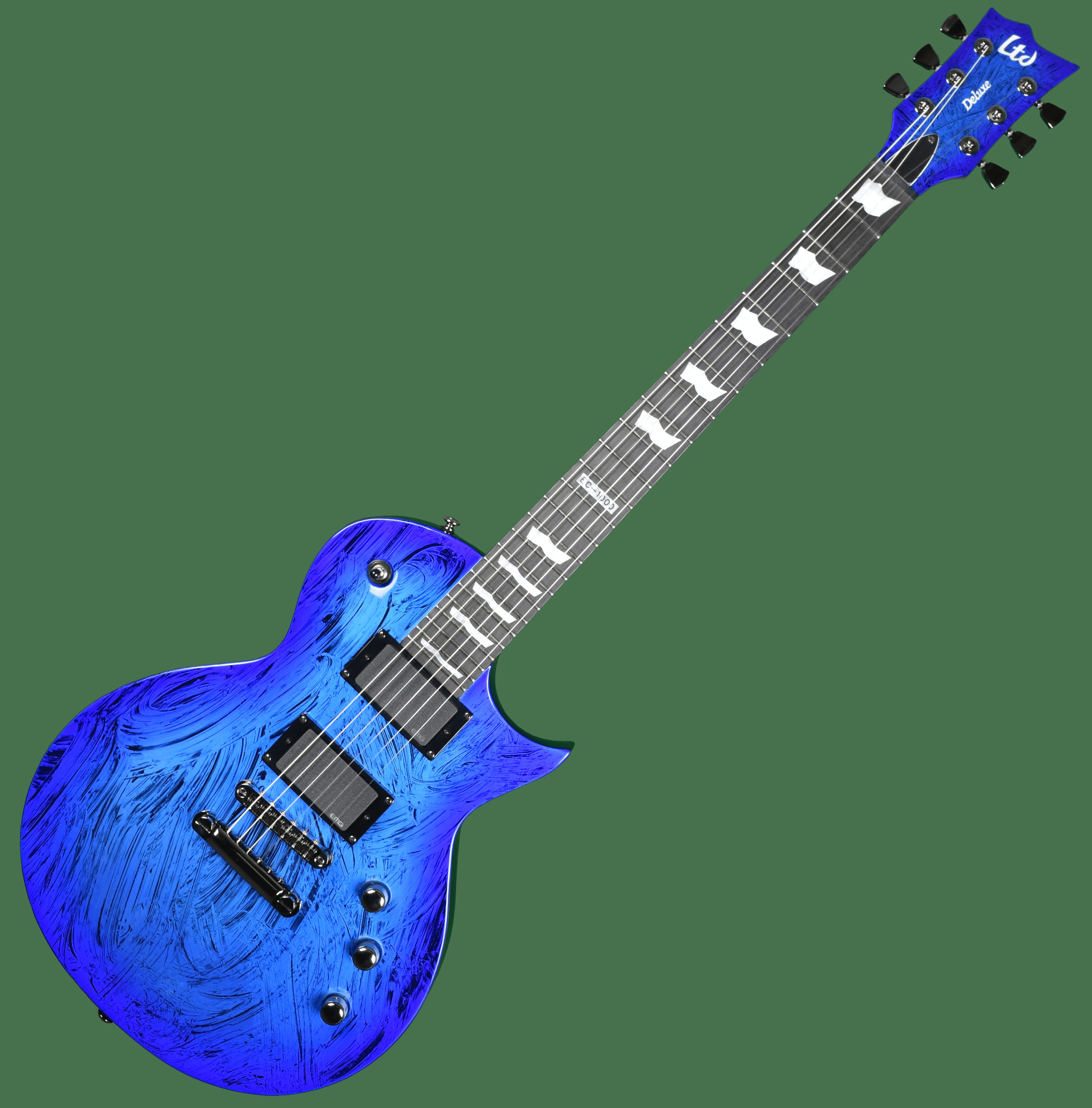 esp ltd deluxe ec 1000 electric guitar in swirl blue finish ebay. Black Bedroom Furniture Sets. Home Design Ideas