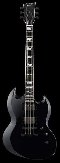 ESP E-II Viper Black Electric Guitar w/Case EIIVIPERBLK