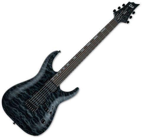 ESP LTD H-1001 Electric Guitar See Thru Black LH1001QMSTBLK