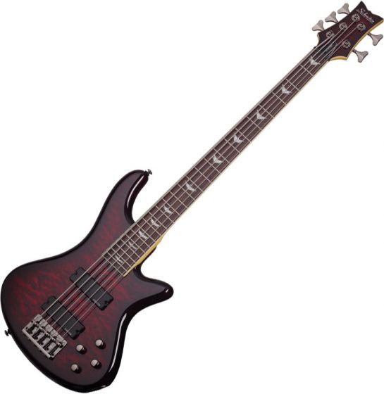 Schecter Stiletto Extreme-5 Electric Bass Black Cherry sku number SCHECTER2502