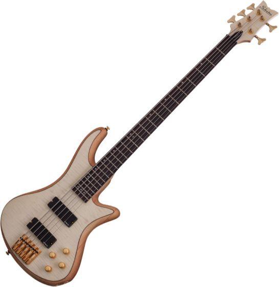 Schecter Stiletto Custom-5 Electric Bass Gloss Natural sku number SCHECTER2541