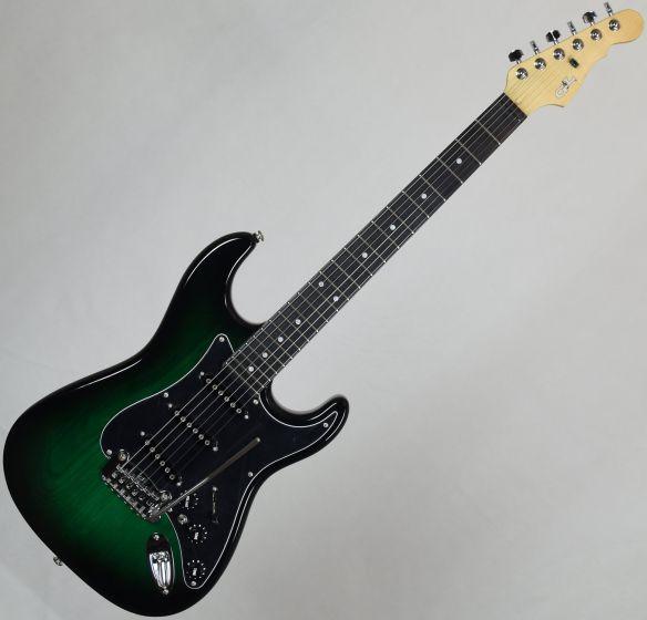 G&L USA S-500 Ebony Fingerboard Electric Guitar Greenburst USA S500-GBT-EB 7833