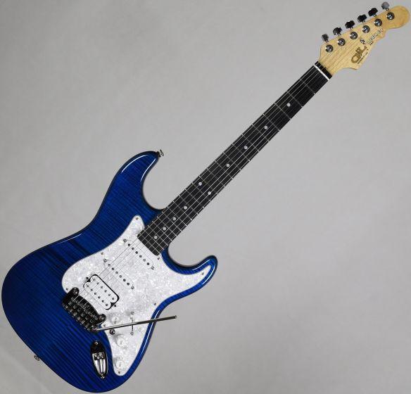 G&L USA Legacy HSS Flame Maple Top Electric Guitar Clear Blue USA LGCYHB-CBL-EB 8918