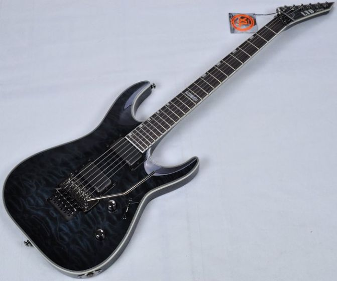 ESP LTD Deluxe MH-1001FR EMG Metalworks Electric Guitar in See Thru LMH1001FRSTBLK.B
