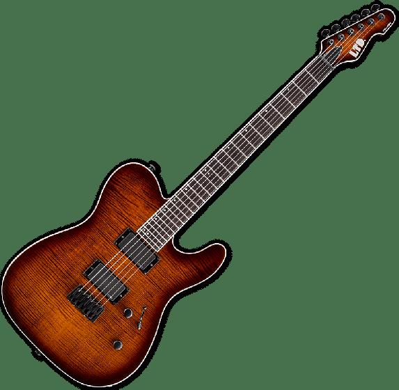 ESP LTD TE-401FM Electric Guitar in Dark Brown Sunburst LTE401FMDBSB