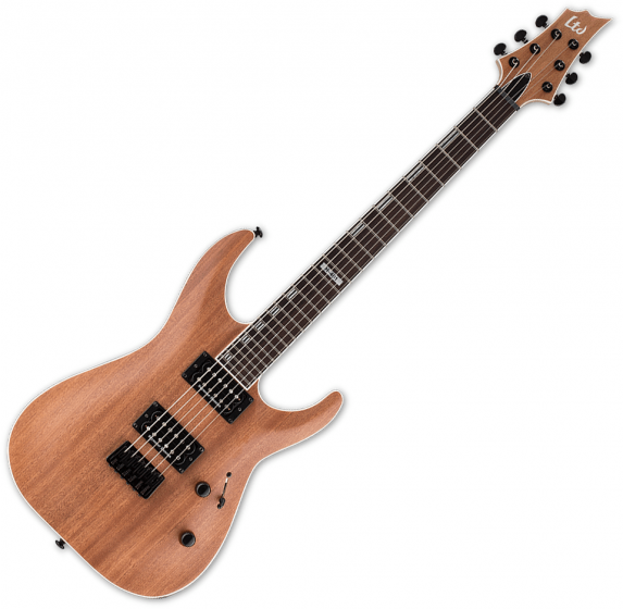 ESP LTD H-401M Mahogany Top Electric Guitar Natural Satin LH401MNS