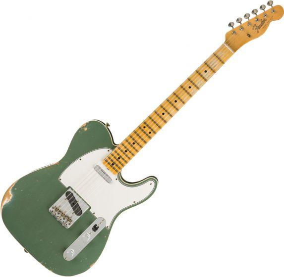 Fender Custom Shop 1965 Telecaster Custom Relic Electric Guitar Faded Aged Sherwood Green Metallic 9235000842