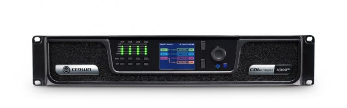 Crown Audio CDi 4|300BL Analog + Blue Link Drivecore Series Amplifier GCDI4x300BL-U-US