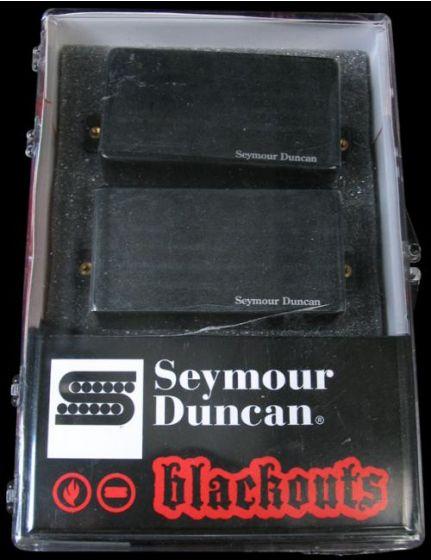 Seymour Duncan AHB-1S Original Blackouts Neck/Bridge Pickup Set Black Chrome Cover 11106-32-BChr