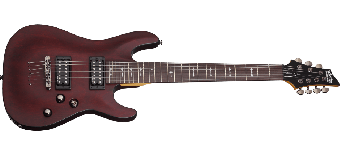 Schecter Omen-7 Electric Guitar in Walnut Satin Finish sku number SCHECTER2068