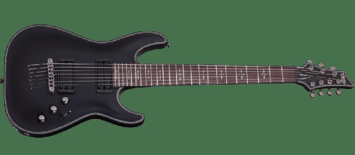 Schecter Hellraiser C-7 P Electric Guitar Satin Black SCHECTER1942