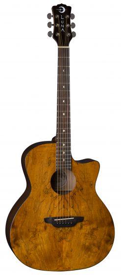 Luna Gypsy Exotic Spalt Acoustic Guitar GYP SPALT GYP SPALT