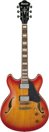Ibanez ASV73 VAL ASV Artcore Vintage Amber Burst Low Gloss Hollow Semi-Body Electric Guitar ASV73VAL