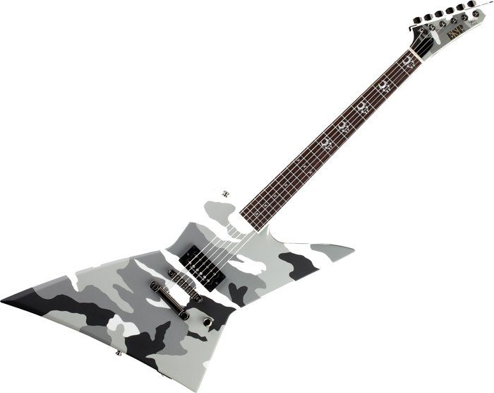 ESP Max Cavalera EX Guitar in Urban Camo Finish w/Case B Stock EMAXUC.B