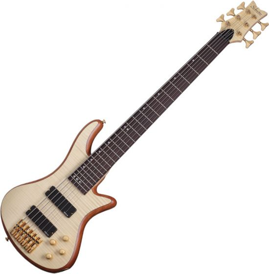Schecter Stiletto Custom-6 Electric Bass Gloss Natural sku number SCHECTER2543