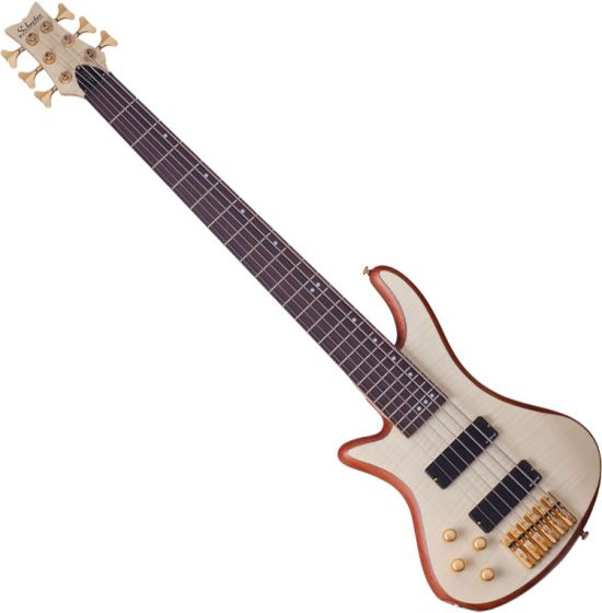 Schecter Stiletto Custom-6 Left-Handed Electric Bass Gloss Natural sku number SCHECTER2544