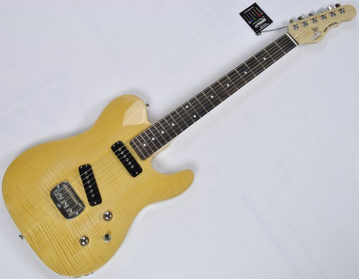 G&L Tribute ASAT Special Deluxe Flamed Maple Top Guitar in Natural sku number TI-ASATD-FM-NAT