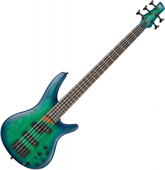 Ibanez SR Standard SR655 5 String Electric Bass Surreal Blue Burst SR655SBB