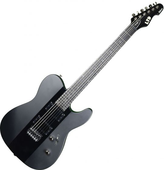 ESP LTD Deluxe TE-1000 Prototype Electric Guitar Satin Black Gloss Stripe LXTE1000BLKSGS.P 0702