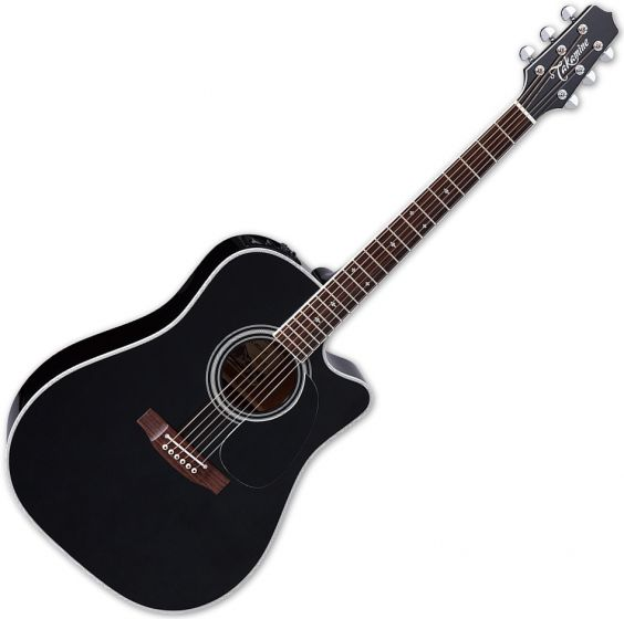 Takamine EF341SC Legacy Series Acoustic Guitar in Gloss Black Finish sku number TAKEF341SC