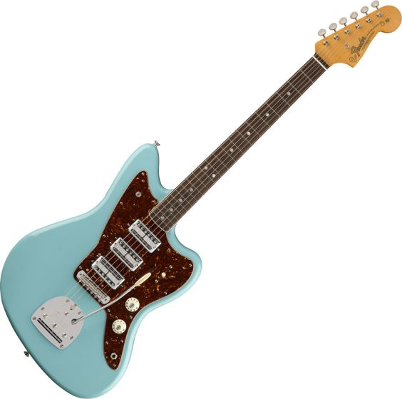 Fender Limited Edition 60th Anniversary Triple Jazzmaster Electric Guitar in Daphne Blue 0173900704