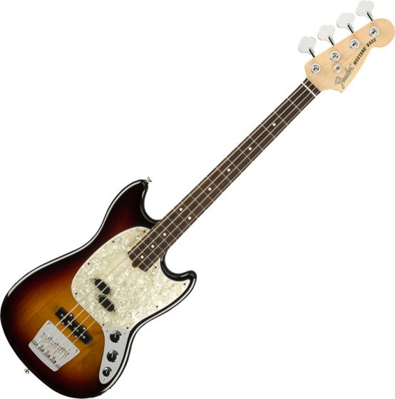 Fender American Performer Mustang Bass Electric Guitar 3-Color Sunburst 0198620300