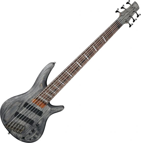 Ibanez SR Bass Workshop SRFF806 Multi-Scale 6 String Electric Bass Black Stained SRFF806BKS
