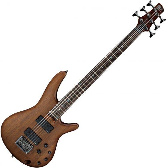Ibanez SR Bass Workshop SRC6 6 String Electric Bass Walnut Flat SRC6WNF