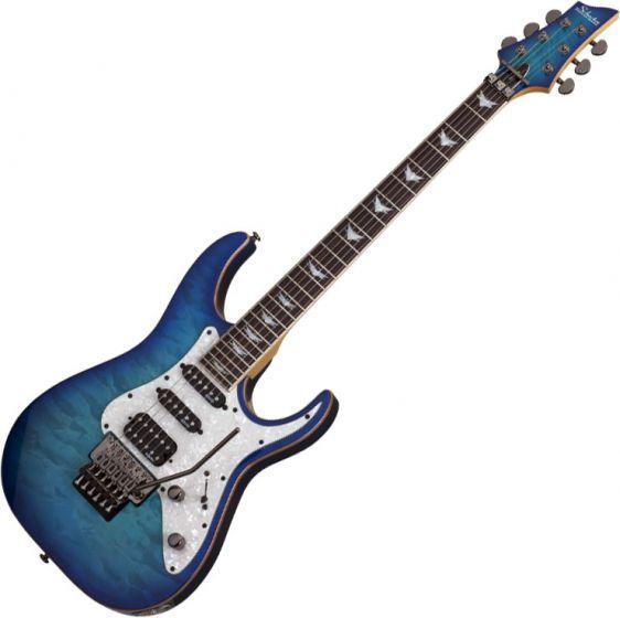 Schecter Banshee-6 FR Extreme Electric Guitar in Ocean Blue Burst Finish SCHECTER1994