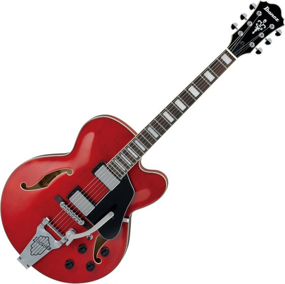 Ibanez Artcore AFS75T Hollow Body Electric Guitar Transparent Cherry Red AFS75TTCD