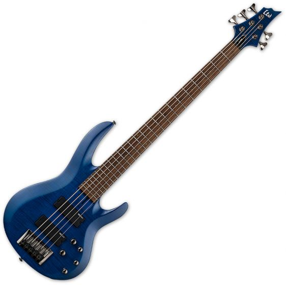 ESP LTD B-205FM Electric Bass See Thru Blue LB205FMSTB
