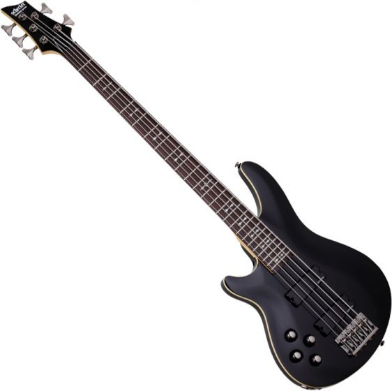 Schecter Omen-5 Left-Handed Electric Bass in Gloss Black Finish SCHECTER2095