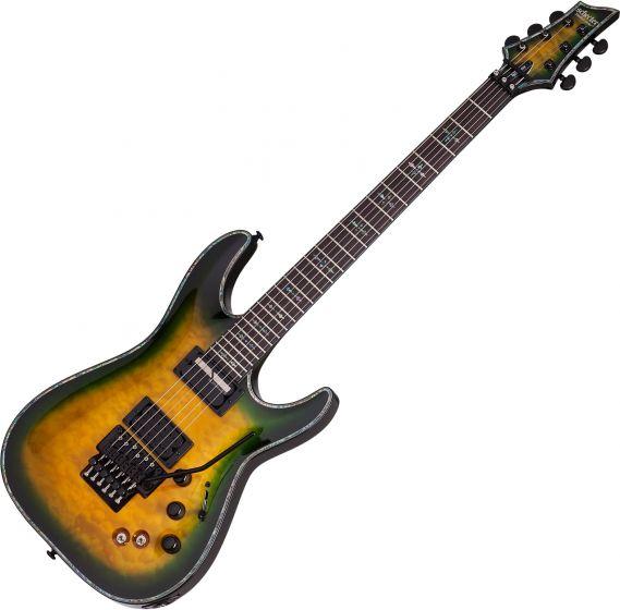 Schecter Hellraiser Passive C-1 FR S Electric Guitar in Dragon Burst Finish SCHECTER1950