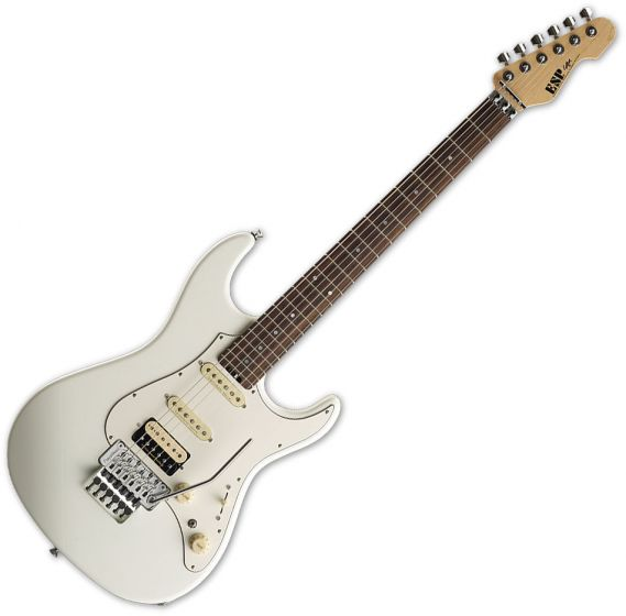 ESP Snapper FR Electric Guitar in Ice White Finish ESNAPALRFRICWH