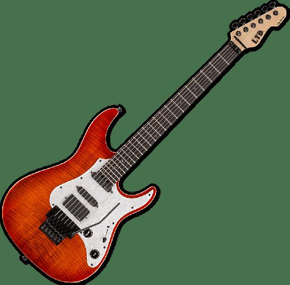 ESP LTD SN-1000FR Electric Guitar in Copper Sunburst LSN1000FRFMRCPRSB