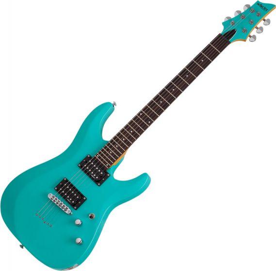 Schecter C-6 Deluxe Electric Guitar Satin Aqua SCHECTER428
