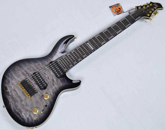 ESP LTD JR-608 QM 2015 Javier Reyes Signature Electric Guitar in Faded sku number LJE608QMFSBS