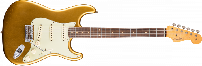 """Fender Custom Shop Limited Edition """"59 Special"""" Journeyman Relic Strat  Aged Aztec Gold Electric Guitar 1510590878"""
