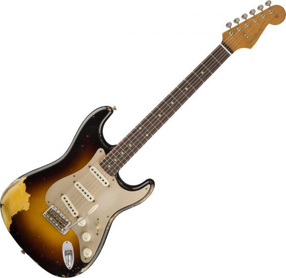 Fender Custom Shop 2017 Limited '59 Stratocaster - Heavy Relic Electric Guitar Faded 3-Color Sunburst 9235000486