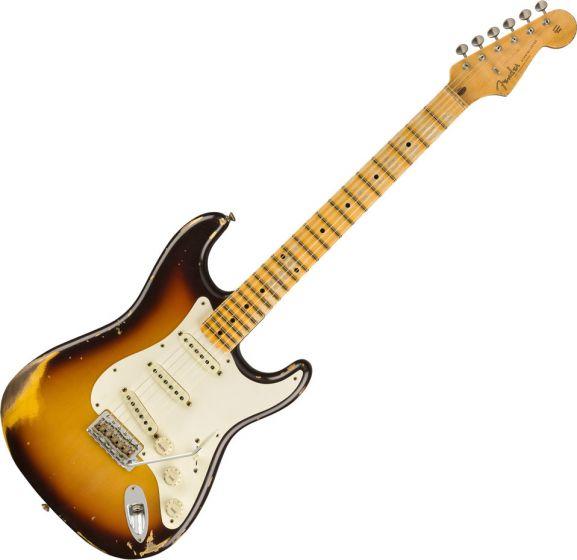 Fender Custom Shop 1959 Stratocaster Heavy Relic - Maple Electric Guitar Faded Chocolate 3-Color Sunburst 9235000815