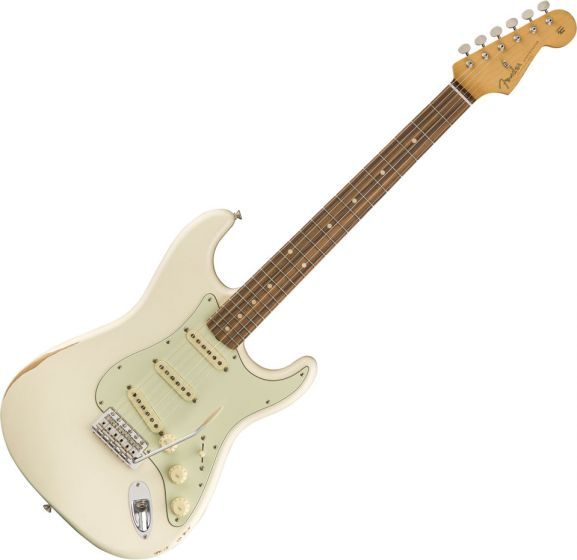 Fender Road Worn 60s Stratocaster Electric Guitar in Olympic White 0131013305