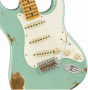 Fender Custom Shop 1959 Stratocaster Heavy Relic - Maple  Aged Daphne Blue Electric Guitar 9235000818