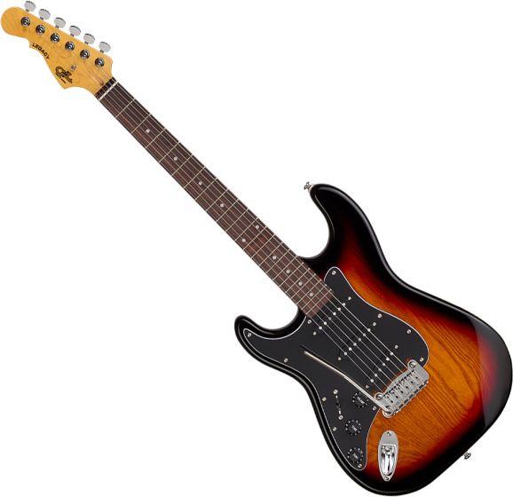 G&L Tribute Legacy Left-Handed Electric Guitar 3-Tone Sunburst TI-LGY-121L20R23