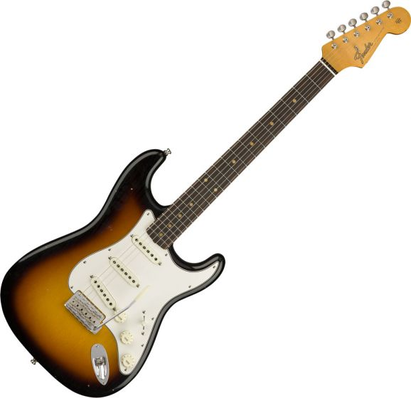 Fender Custom Shop 2018 Postmodern Stratocaster Journeyman Relic Electric Guitar Faded 3-Color Sunburst 9235000569