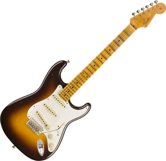 Fender Custom Shop Postmodern Stratocaster Journeyman Relic Maple  Wide-Fade Chocolate 2-Color Sunburst Electric Guitar 9235000881