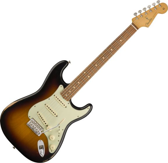 Fender Road Worn 60s Stratocaster Electric Guitar in 3-Color Sunburst 0131013300