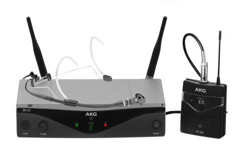 AKG WMS420 Headworn Set Band A Professional Wireless Microphone System 3413H00010