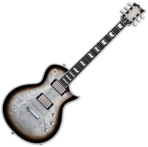 ESP Eclipse Custom Electric Guitar Silver Liquid Metal Burst sku number EECCTMSLMB
