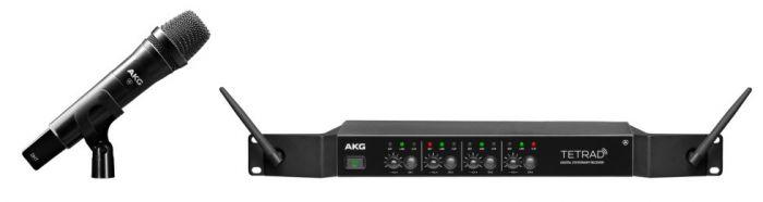 AKG DMSTETRAD Vocal Set P5 - Professional Digital Four Channel Wireless System 3459H00010