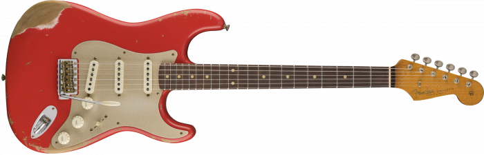 Fender Custom Shop 2017 Limited '59 Stratocaster - Heavy Relic  Aged Fiesta Red Electric Guitar 9235000484
